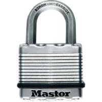 Master Lock Excell Stainless Steel Double Ball Bearing Lock Octagonal Open Shackle Padlock (W)50mm  Pack of 2