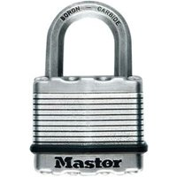 Master Lock Excell Steel 5-Pin Tumbler Octagonal Open Shackle Padlock (W)64mm