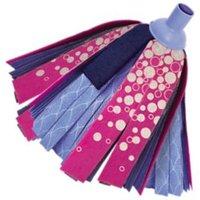 Elephant Blue & pink Synthetic Mop head
