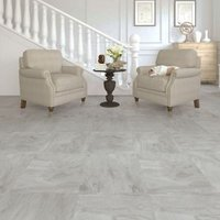 Colours Leggiero Light grey Slate effect Laminate flooring  1.86m² Pack