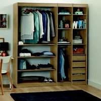 Form Perkin Oak Effect Bedroom Storage Unit Kit (H)2008mm (W)1440mm