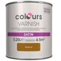 Colours Walnut Satin Wood varnish  0.25L