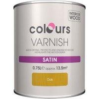 Colours Indoor Oak Satin Wood varnish 0.75L