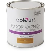 Colours Oak Satin Light base Floor varnish 2.5L
