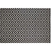 Colours Harrietta Black & White Geometric Rug (L)1.7M (W)1.2 M