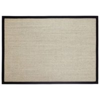 Colours Fedora Black Flatweave with cotton border Rug (L)1.7m (W)1.2 m