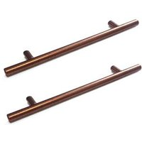 Copper Speckled matt Straight T-Bar handle Pack of 2