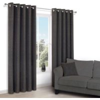 Camasha Black Honeycomb Woven Eyelet Lined Curtains (W)117 cm (L)137 cm