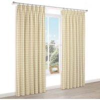 Carlisa White Check Lined Pencil pleat Curtains (W)167cm (L)228cm Pair