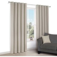 Chaylea Green Stripe Eyelet Lined Curtains (W)167 cm (L)183 cm