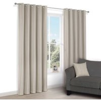 Chaylea Green Stripe Eyelet Lined Curtains (W)167 cm (L)228 cm