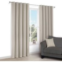 Chaylea Green Stripe Eyelet Lined Curtains (W)228 cm (L)228 cm