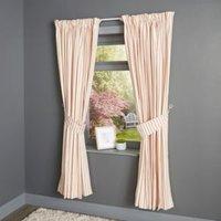 Christina Red & Cream Stripe Pencil Pleat Lined Curtains (W)117 cm (L)137 cm