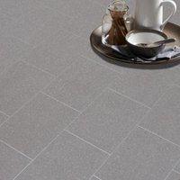 Colours Monzen Grey Tile effect Vinyl flooring  6m²