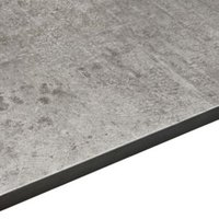12.5mm Exilis Woodstone Grey Stone Effect Square edge Laminate Worktop (L)3.02m (D)610mm