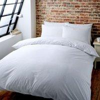 Colours Zen Plain White Double Bed Set