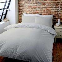 Colours Zen Plain & striped Cream Double Bed set