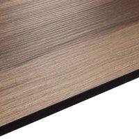 12.5mm Exilis Colorado Wood effect Square edge Solid core laminate Worktop (L)2.4m (D)425mm