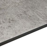 12.5mm Exilis Woodstone Grey Square edge Laminate Worktop (L)2.4m (D)425mm