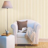 Zara Gold Striped Glitter Effect Wallpaper