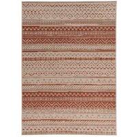Colours Orla Rust & Beige Striped Rug (L)1.7M (W)1.2 M