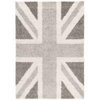 Colours Raegan Grey Union Jack Rug (L)1.7M (W)1.2 M