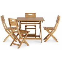 Denia Wooden 4 Seater Dining Set