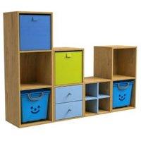 Konnect Oak effect 6 shelf Storage unit  Set of 10
