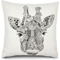 Giraffe White Cushion