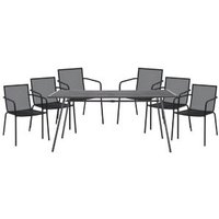 Adelaide Metal 6 seater Armchair set