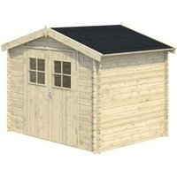 8x6 MOKAU Apex roof Tongue & groove Wooden Shed with floor