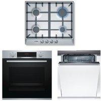 Bosch Single Oven  Gas Hob & Dishwasher Pack