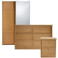 Kendal Matt oak effect 3 piece Bedroom furniture set