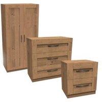 Darwin Oak effect 3 piece Bedroom furniture set.