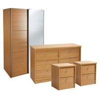 Kendal Matt oak effect 4 piece Bedroom furniture set.