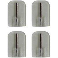 'Matt White Metal Curtain Pole Bracket (dia)9mm  Set Of 4