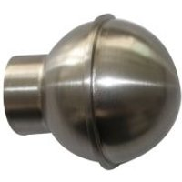 GoodHome Athens Brushed nickel effect Metal Ball Curtain pole finial (Dia)28mm