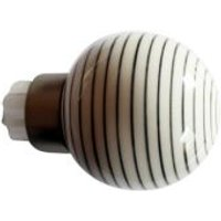 GoodHome Athens Brushed nickel effect Ceramic and metal Ball Curtain pole finial (Dia)28mm