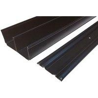 Valla Contemporary Black Sliding wardrobe door track set (L)1500mm