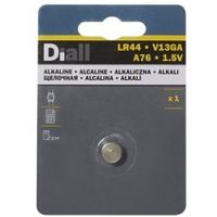 Diall Alkaline batteries Non rechargeable LR44 Button cell battery.