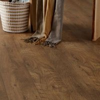 Bunbury Natural Oak effect High-density fibreboard (HDF) Laminate Flooring Sample