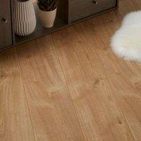 Gladstone Oak effect High-density fibreboard (HDF) Laminate Flooring Sample