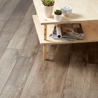 Bannerton Dark Gloss Mahogany effect Laminate Flooring Sample