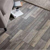 Dunwich Grey Oak effect Laminate Flooring Sample