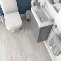 Vinto Grey Matt Stone effect Ceramic Floor tile Pack of 6 (L)600mm (W)300mm