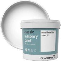 GoodHome Classic Pure brilliant white Matt Masonry paint  5L