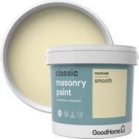 GoodHome Classic Montreal Smooth Matt Masonry paint  5L