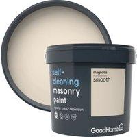 GoodHome Self-cleaning Magnolia Smooth Matt Masonry paint 5L