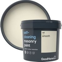 GoodHome Self-cleaning Vail Smooth Matt Masonry paint 5L