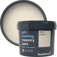 GoodHome Self-cleaning Magnolia Smooth Matt Masonry paint  1